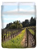 California Vineyards In Late Winter Just Before The Bloom 5D22167 Duvet Cover by Wingsdomain Art and Photography