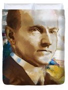 Calvin Coolidge Duvet Cover by Corporate Art Task Force