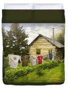 Camp Leconte Duvet Cover by Debra and Dave Vanderlaan