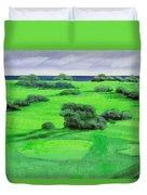 Campo Da Golf Duvet Cover by Guido Borelli