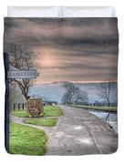 Canal Directions Duvet Cover by Adrian Evans
