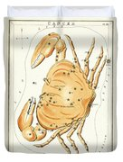 Cancer Constellation - 1825 Duvet Cover by Daniel Hagerman