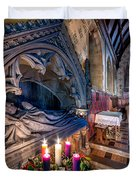 Candles at Christmas Duvet Cover by Adrian Evans