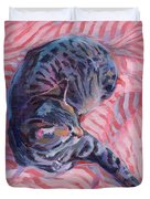 Candy Cane Duvet Cover by Kimberly Santini