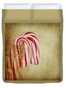 Candy Canes Duvet Cover by Kim Hojnacki