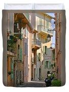 Cannes - Le Suquet - France Duvet Cover by Christine Till