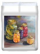 Canning Jars Duvet Cover by Kristine Kainer