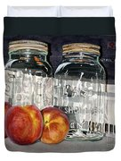 Canning Time Duvet Cover by Barbara Jewell