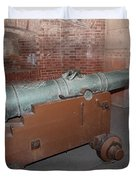 Cannon At San Francisco Fort Point 5d21503 Duvet Cover by Wingsdomain Art and Photography