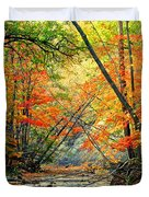 Canopy of Color II Duvet Cover by Frozen in Time Fine Art Photography