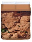 Canyon De Chelly - A Fascinating Geologic Story Duvet Cover by Christine Till