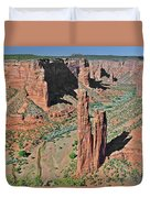 Canyon De Chelly - Spider Rock Duvet Cover by Christine Till