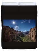 Canyon Overlook Duvet Cover by Jeff Burton