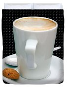 Cappuccino With An Amaretti Biscuit Duvet Cover by Terri  Waters