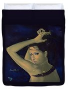 Capricorn From Zodiac Series Duvet Cover by Dorina  Costras