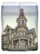 Captain George Flavel Victorian House - Astoria Oregon Duvet Cover by Daniel Hagerman