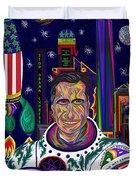 Captain Mitt Romney - American Dream Warrior Duvet Cover by Robert SORENSEN