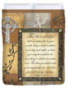 Caramel Scripture Duvet Cover by Debbie DeWitt