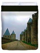 Carcassonne Walls Duvet Cover by FRANCE  ART