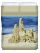 Caribbean Sand Castle  Duvet Cover by Betty LaRue