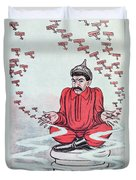 Caricature Of Stalin Duvet Cover by Adrien Barrere