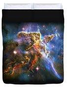 Carina Nebula 6 Duvet Cover by The  Vault - Jennifer Rondinelli Reilly