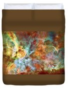 Carina Nebula - Interpretation 1 Duvet Cover by The  Vault - Jennifer Rondinelli Reilly