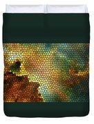 Carina Nebula Mosaic  Duvet Cover by Jennifer Rondinelli Reilly - Fine Art Photography