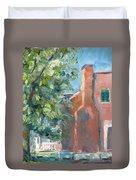 Carnton Plantation On A Spring Morning Duvet Cover by Susan E Jones