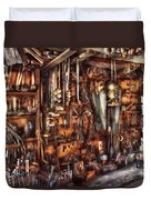Carpenter - That's A Lot Of Tools  Duvet Cover by Mike Savad