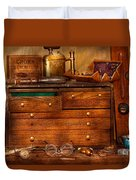 Carpentry - Tools - In My Younger Days  Duvet Cover by Mike Savad