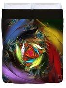 Carribean Nights-abstract Fractal Art Duvet Cover by Karin Kuhlmann
