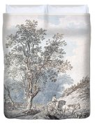 Cart And Horse Duvet Cover by Joseph Constantine Stadler