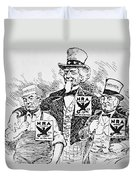 Cartoon Depicting The Impact Of Franklin D Roosevelt  Duvet Cover by American School