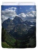 Cascade Canyon North Fork Duvet Cover by Raymond Salani III