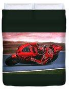 Casey Stoner on Ducati Duvet Cover by Paul Meijering
