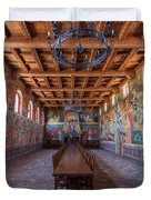 Castelle Di Amorosa Dining Hall Duvet Cover by Scott Campbell