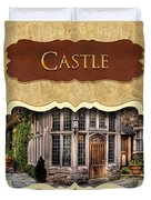 Castle Button Duvet Cover by Mike Savad