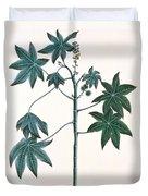 Castor Oil Plant Duvet Cover by Indian School