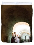 Catacombs in Palermo Duvet Cover by David Smith