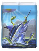 Catch Em Up Off0029 Duvet Cover by Carey Chen