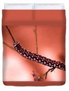 Caterpillar Duvet Cover by Jeff Swan