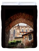 Cathedral Of Ste-cecile In Albi France Duvet Cover by Elena Elisseeva