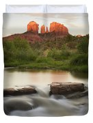 Cathedral Rock At Red Rock Duvet Cover by Peter Carroll