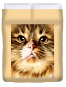 Cat's Perception Duvet Cover by Lourry Legarde
