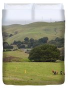 Cattles at Fernandez Ranch California - 5D21061 Duvet Cover by Wingsdomain Art and Photography