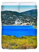 Cave Lake Duvet Cover by Robert Bales