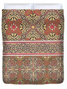 Ceiling Arabesques From The Mosque Of El-bordeyny Duvet Cover by Emile Prisse d Avennes