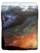 Celestial Northwest Duvet Cover by Lucy West