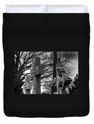 Cemetery Crosses Duvet Cover by Jennifer Ancker